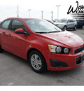 chevrolet sonic 2012 red sedan ls gasoline 4 cylinders front wheel drive automatic 78009