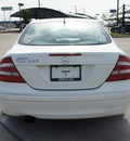 mercedes benz clk class 2005 white coupe clk320 gasoline 6 cylinders rear wheel drive automatic 76087