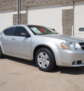 dodge avenger 2008 silver sedan se gasoline 4 cylinders front wheel drive automatic 80301