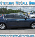 honda accord 2010 blue sedan ex l v6 gasoline 6 cylinders front wheel drive automatic 77339