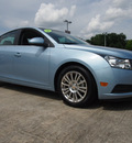 chevrolet cruze 2011 blue sedan eco gasoline 4 cylinders front wheel drive 6 speed automatic 77521