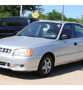 hyundai accent 2002 silver sedan gl gasoline 4 cylinders front wheel drive automatic with overdrive 77845