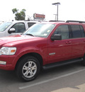 ford explorer 2007 red suv xlt gasoline 6 cylinders rear wheel drive automatic 79925