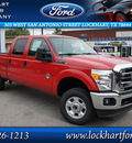 ford f 250 super duty 2012 red xlt biodiesel 8 cylinders 4 wheel drive automatic 78644