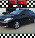 toyota corolla 2012 black sedan l gasoline 4 cylinders front wheel drive automatic 77469