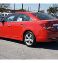 chevrolet cruze 2012 red sedan lt gasoline 4 cylinders front wheel drive automatic 78216