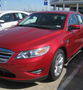 ford taurus 2012 red sedan sel gasoline 6 cylinders front wheel drive automatic 77578