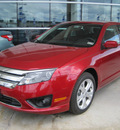 ford fusion 2012 red sedan se flex fuel 6 cylinders front wheel drive automatic 77578