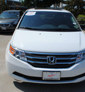 honda odyssey 2011 white van ex l w navi gasoline 6 cylinders front wheel drive automatic 75034