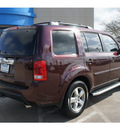 honda pilot 2009 dk  red suv ex l w dvd gasoline 6 cylinders front wheel drive automatic 77566