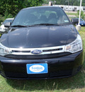 ford focus 2010 black sedan se gasoline 4 cylinders front wheel drive automatic 75606
