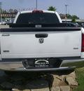 dodge ram pickup 1500 2007 white pickup truck slt flex fuel 8 cylinders rear wheel drive automatic 75901