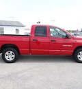 dodge ram pickup 1500 2005 red pickup truck slt gasoline 8 cylinders rear wheel drive automatic 77388