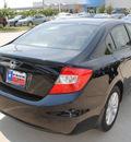 honda civic 2012 black sedan ex 4 cylinders automatic 75034
