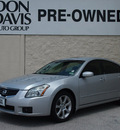 nissan maxima 2008 silver sedan 3 5 se gasoline 6 cylinders front wheel drive automatic 76011