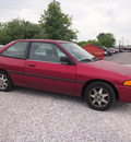 ford escort 1995 red hatchback lx gasoline 4 cylinders front wheel drive automatic 46168
