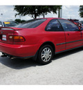 honda civic 1995 red coupe ex gasoline 4 cylinders front wheel drive 5 speed manual 77099