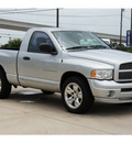 dodge ram pickup 1500 2005 silver pickup truck slt gasoline 8 cylinders rear wheel drive automatic with overdrive 78232