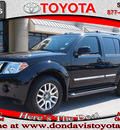 nissan pathfinder 2010 black suv le gasoline 6 cylinders 2 wheel drive automatic 76011