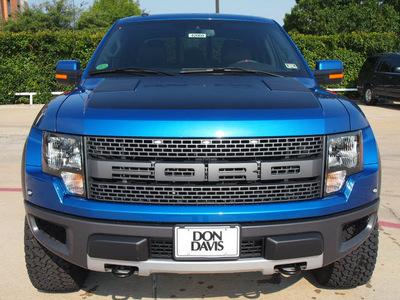 ford f 150 2012 blue svt raptor gasoline 8 cylinders 4 wheel drive automatic 76011