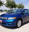 honda civic 2012 blue sedan ex w navi gasoline 4 cylinders front wheel drive automatic 75034