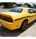 dodge challenger 2012 yellow coupe srt8 yellow jacket gasoline 8 cylinders rear wheel drive automatic 78624