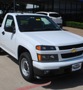 chevrolet colorado 2012 white work truck gasoline 4 cylinders 2 wheel drive automatic 75075