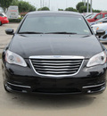 chrysler 200 2011 black sedan touring gasoline 4 cylinders front wheel drive automatic with overdrive 77099