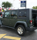 jeep wrangler unlimited 2008 green suv x gasoline 6 cylinders 2 wheel drive 6 speed manual 33021