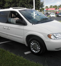 chrysler town and country 2001 white van limited gasoline 6 cylinders front wheel drive automatic 34474