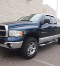 dodge ram pickup 1500 2005 blue slt gasoline 8 cylinders 4 wheel drive automatic 80504