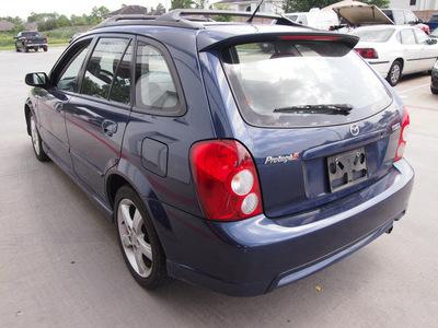 mazda protege5 2003 blue hatchback gasoline 4 cylinders dohc front wheel drive manual 77375