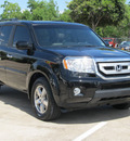honda pilot 2011 black suv ex l w navi gasoline 6 cylinders front wheel drive automatic with overdrive 77074