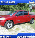 nissan titan 2008 dk  red se ffv flex fuel 8 cylinders 2 wheel drive automatic 75901