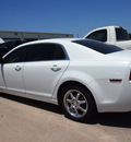 chevrolet malibu 2009 white sedan ls gasoline 4 cylinders front wheel drive automatic 76018