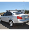 audi a4 2004 silver sedan 1 8t quattro gasoline 4 cylinders all whee drive 6 speed manual 99352