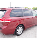 toyota sienna 2012 dk  red van xle 8 passenger gasoline 6 cylinders front wheel drive automatic 77074