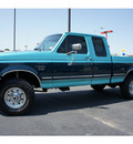 ford f 250 1997 green pickup truck heavy duty diesel v8 4 wheel drive 5 speed manual 76543