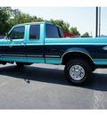 ford f 250 1997 green pickup truck heavy duty diesel v8 4 wheel drive 5 speed manual 76543