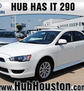 mitsubishi lancer 2012 white sedan es gasoline 4 cylinders front wheel drive automatic 77065