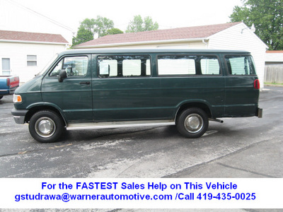 dodge ram wagon 1996 green van 3500 gasoline v8 rear wheel drive automatic with overdrive 45840