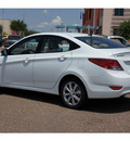 hyundai accent 2013 white sedan gls gasoline 4 cylinders front wheel drive automatic 78041