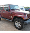 jeep wrangler unlimited 2008 dk  red suv sahara gasoline 6 cylinders 4 wheel drive automatic with overdrive 77590