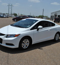 honda civic 2012 white coupe lx gasoline 4 cylinders front wheel drive 5 speed manual 77099