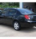 saturn ion 2007 black sedan 2 gasoline 4 cylinders front wheel drive standard 77094