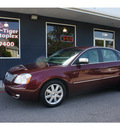 ford five hundred 2005 maroon sedan limited gasoline 6 cylinders front wheel drive automatic 76513