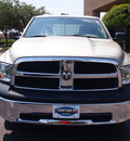 dodge ram 1500 2010 silver pickup truck st gasoline 6 cylinders 2 wheel drive automatic 75075