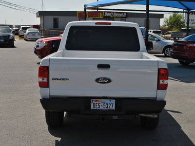 ford ranger 2011 white xl gasoline 4 cylinders 2 wheel drive automatic with overdrive 78523
