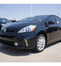 toyota prius v 2012 black wagon five hybrid 4 cylinders front wheel drive automatic 76116