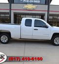 chevrolet silverado 1500 2009 white pickup truck work truck gasoline 8 cylinders 2 wheel drive automatic 76051